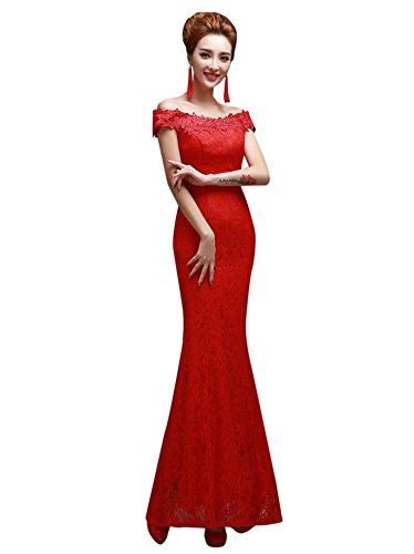 Drasawee - Robe - Moulante - Femme Red 1#