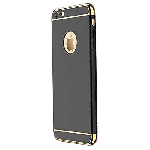 iPhone 6s Plus Hülle Caler® hardcase PC 3in1 schwarz stoßfest Harte Schutzhülle cover für iphone 6 Plus/ 6s Plus 5,5 Zoll (schwarz)