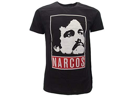 narcos t-shirt pablo escobar merchandising ufficiale maglietta serie tv (m)