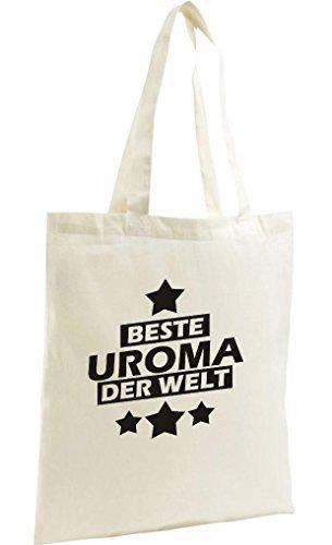 shirtstown Shopping-Bag organico Zen, SHOPPER MIGLIORI uroma DEL MONDO Naturale
