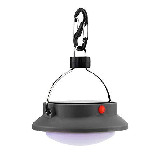 JINM 12 LED 3 Modi, Solar-Camping-Lampe, wiederaufladbar, tragbares Zeltlicht mit Lampenschirm, kreisförmiges weißes Licht, Camping-Hängelampe für Outdoor, Camping, Wandern, Bootfahren, Angeln etc. - Lampenschirme Kreisförmige