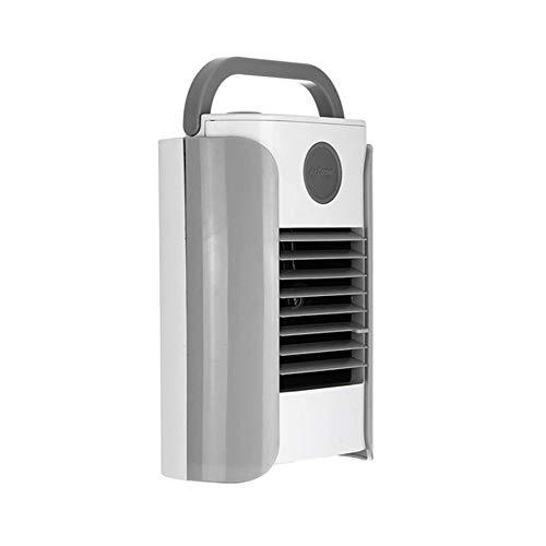 Genießen Hydrating Conditioner (CCYYA USB Portable Mini Air Conditioner Kühler, 3 Geschwindigkeiten Desktop Air Cooling Fan Luftbefeuchter Unterstützung Bluetooth Speaker Radio,Gray)