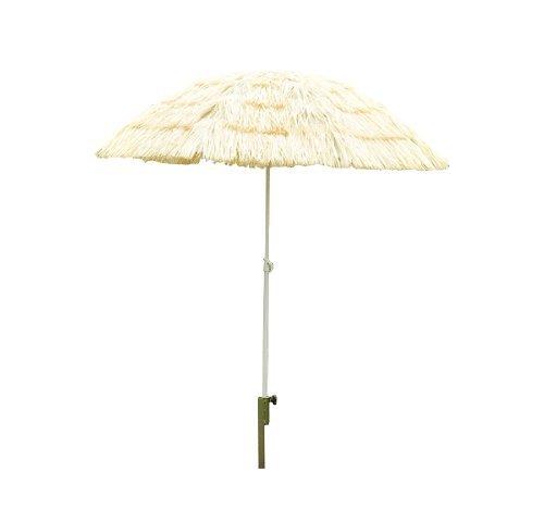 Outsunny Sonnenschirm Strandschirm Hawaiischirm Ø 160 cm beige
