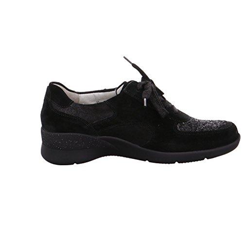 ville 502 femme 001 lacets 912003 à de Noir pour Waldläufer Chaussures XzFnq