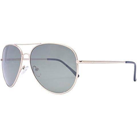 OceanGlasses - Banila aviator - gafas de sol metálicas -Montura : Dorada - Lentes : Verdes (18110.1)