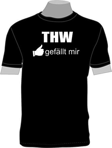 THW gefällt Mir; T-Shirt; schwarz; Unisex; 50/52; Gr. L