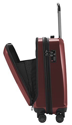 CAPITAL CASE - X-Berg -Handgepäck difficile trolley valigia, 55 cm, 42 litri, TSA, Nero Rosso