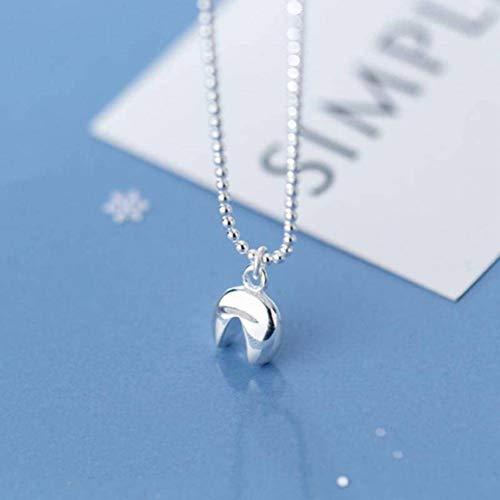 katylen - necklace S925 Silber Halskette Weiblichen Einfachen Glatten Zahn Halskette Niedlichen Mini Geometrische Schlüsselbein Kette, S925 Silver Set Chain