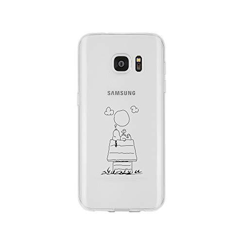 licaso Samsung Galaxy S7 Handyhülle TPU mit Dog Dreaming Print Motiv - Transparent Cover Schutz Hülle H& Träume Aufdruck Druck