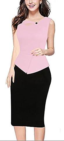 SunIfSnow - Robe spécial grossesse - Moulante - Uni - Sans Manche - Femme - rose - X-Large