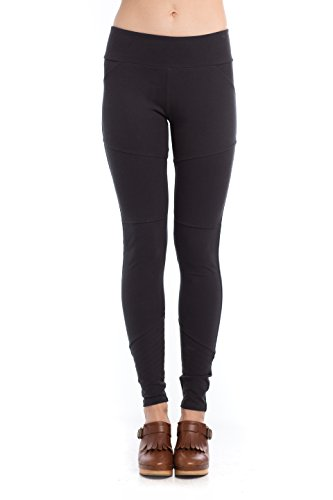 Synergy Organic Clothing athleisure Downtown Legging jet black