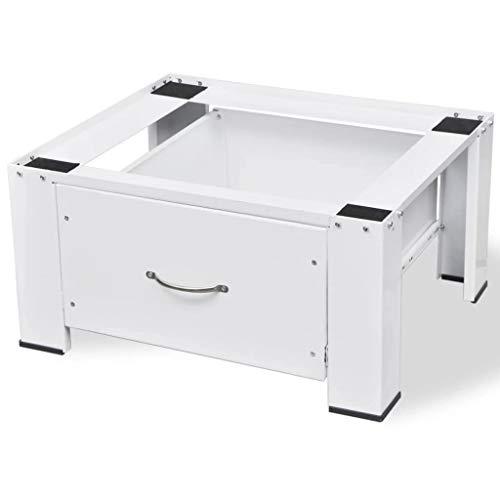 Garten Haushaltsgeräte (guyifuzhuangs Sockel für Waschmaschine Weiß mit Schublade Heim & Garten Haushaltsgeräte-Zubehör Wasch-Zubehör Zubehör für Waschmaschinen und Wäschetrockner)