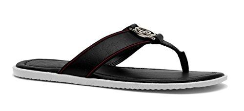 OPP Uomo Causal Pelle Pantofole Sandali Nero