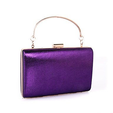 KYS Frauen pu formal / Ereignis / Partei Büro Karriere Abendtasche Schmetterling Kristall Clutch Taschen Hochzeit die Muscheln bunte Steine Purple