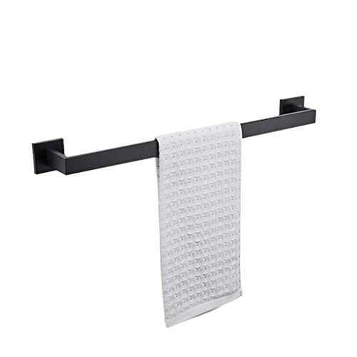Mj Slip (M-J Home Fashion Einfachheit Handtuchhalter, Single-Shot Wand-Wc Edelstahl Handtuchhalter 60 cm, Black Slip, Starker Widerstand)