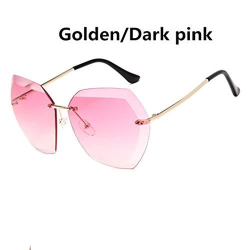 CUYAG Sonnenbrillen Ocean Women Sunglasses Europa Und Amerika Stil Brille Sq Cut Sonnenbrille Frau Frameless Metal Sunglasses D