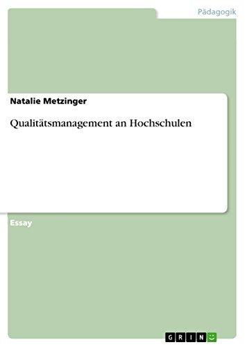 Qualitätsmanagement an Hochschulen