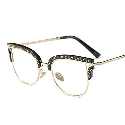 e Sonnenbrille mit UV-Schutz Damen Coole Brille Square Frame klare Brillengläser. Superleichtes Rahmen-Fischen, das Golf fährt (Farbe : A) ()