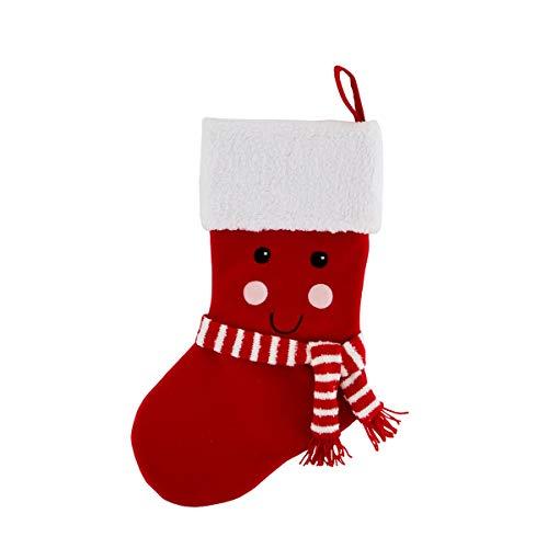 Selezione vertecchi calza della befana smile poliestere 45cm bianco-rosso