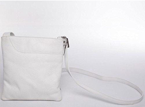 Josephine Osthoff Handtaschen-Manufaktur, Borsa a tracolla donna one size Bianco (bianco)