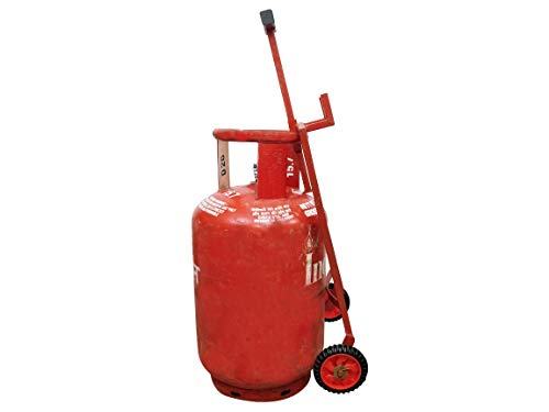 Lakshya Gas Cylinder Trolley with Wheels and Handle | LPG Cylinder Stand Full Metal
