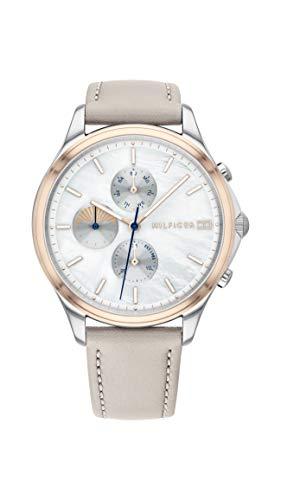 Tommy Hilfiger Damen Analog Quarz Uhr mit Leder Armband 1782118 - Uhren Damen Movado