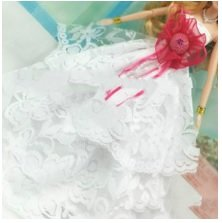 Ps Retail Doll Accessories - Beautiful Clothes Fashion Dress For Barbie Doll - White (Size: 29Cm)