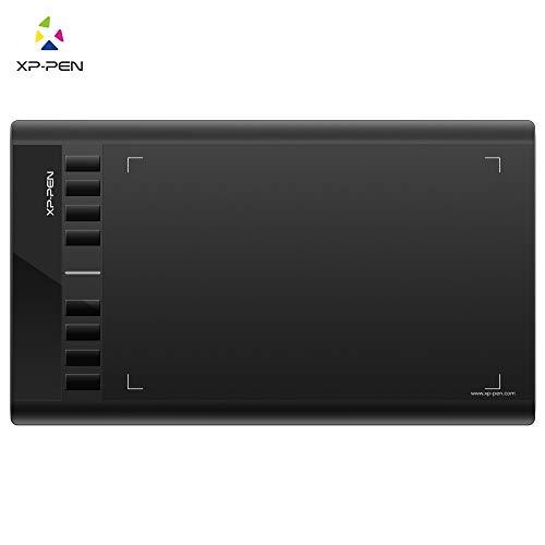XP-PEN Star 03 Batterieloser P01 Stift Grafiktablet 8192 stufige Druckempfindlichkeit mit breite Fläche und 8 Schnellzugriffstasten