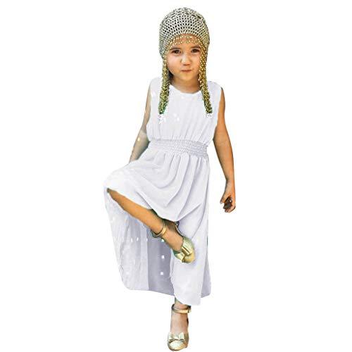 i-uend 2019 New Baby Kleid - Kleinkind Mädchen Kinder Sleeveless Solide Sommer Party Prinzessin Kleid Kleidung Für 0-4 Jahre