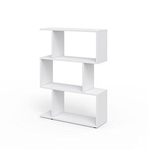 Vicco Raumteiler LEVIO Bücherregal Standregal Aktenregal Hochregal Aufbewahrung Regal +++Verschiedene Dekore +++ (Weiß)
