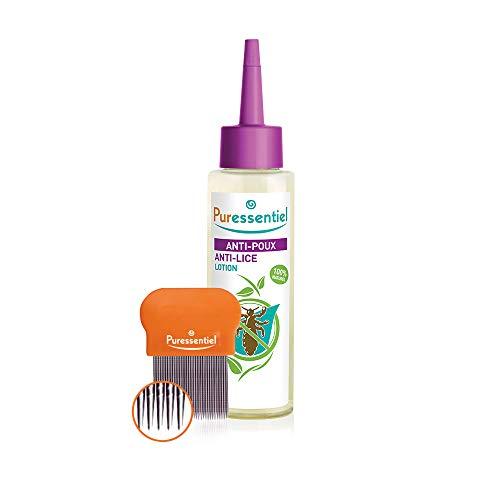 Puressentiel Anti-Läuse-Behandlungslotion und Kamm, 100ml (Behandlung Haare öl Mandel)