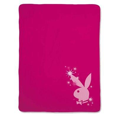 Playboy 10290400 Fleece Decke Sparkling Bunny, 150 x 200, 100% Polyester