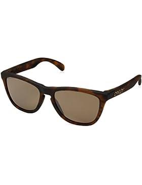 Oakley Hombre Gafas de Sol de Frogskins, Marrón