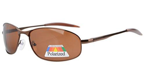 Eyekepper Metallrahmen Angeln Golf Radfahren Fliegen im Freien polarisierten Sonnenbrillen Braun