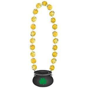 Amscan 398167 Collar de Moneda de Oro de 45 cm para el día de San Patricio