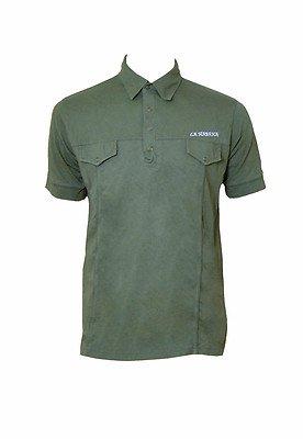Herren Polo Baumwolle Short Sleeve Summer Holiday T-Shirt Grün - Khaki