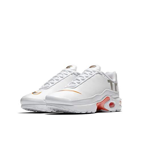 Nike Air Max Plus TN SE BG Running Trainers AR0005 Sneakers Schuhe (UK 6 us 7Y EU 40, White metallic Silver 100) (Basketball-schuhe 7y)