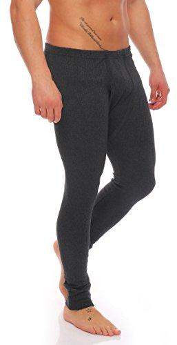 Herren Outdoor-Unterwäsche Lange Thermo-Unterhose angeraut Warme Arbeitsunterwäsche stylenmore (M, Anthrazit)