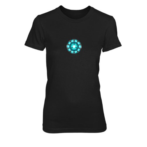 Stark Reactor Kostüm Arc Tony (Planet Nerd - Arc Reactor - Damen T-Shirt, Größe M,)