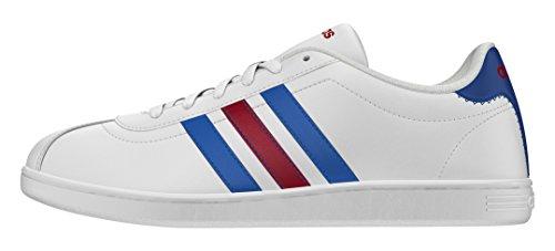 adidas - Vlneo Court, Scarpe sportive Uomo Bianco (Blanco (Ftwbla / Azul / Rojpot))