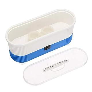 KUNSE Ultraschallreiniger Schmuck Reinigungsmaschine Für Schmuck Denture Eye Brille Münzen Silber-Blau