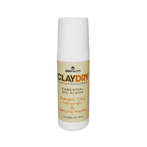 Zion Health Clay Dry Natural Deodorant - 3 oz by ZION HEALTH