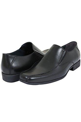 yoursclothing badrhino pour homme en cuir Chaussures à enfiler Noir - Noir