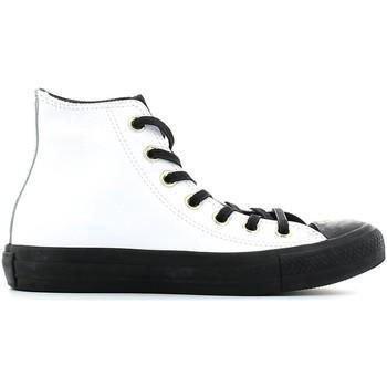 Converse - Converse All Star CT Hi Scarpe Donna Bianche Pelle 146632 - Bianco, 39,5