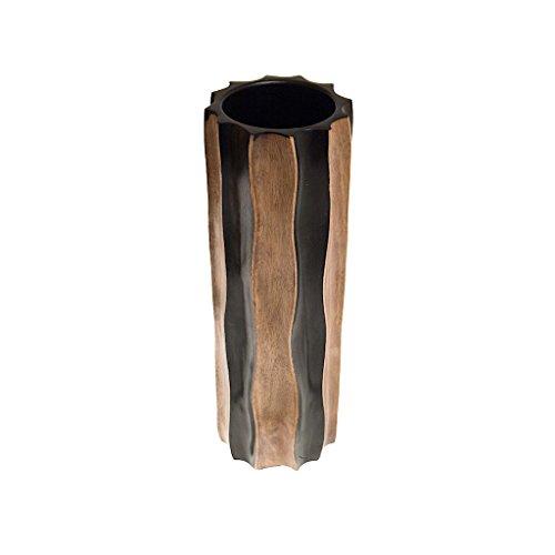 ROMBOL Vase, Holzvase, Höhe 38,5 cm, Deko, Dekoration, Dekovase, Holz