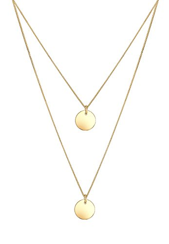 Elli-Damen-Kette-mit-Anhnger-Kreis-925-Silber-45-cm