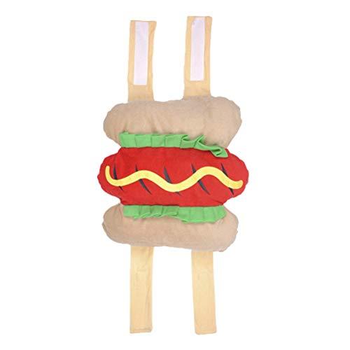 UKCOCO Lustige Hot Dog Design Halloween Haustier Kostüme, Bekleidung Dressing Party Kostüm Anzug für Hunde - Größe S