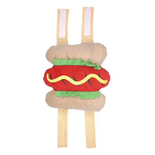 UKCOCO Lustige Hot Dog Design Halloween Haustier Kostüme, Bekleidung Dressing Party Kostüm Anzug für Hunde - Größe - Hot Dog Kostüm Für Hunde