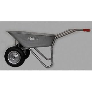 Multila 2-Rad Schubkarre mit 100L extra dickerer Wanne, Luftrad mit Stahlfelge