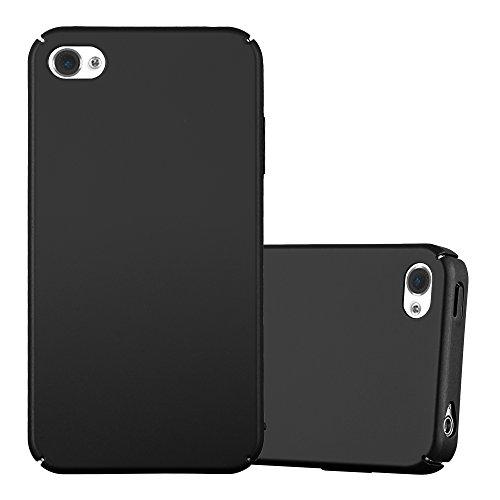 Cadorabo Hülle für Apple iPhone 4 / iPhone 4S - Hülle in Metall SCHWARZ - Hardcase Handyhülle im Matt Metal Design - Schutzhülle Bumper Back Case Cover